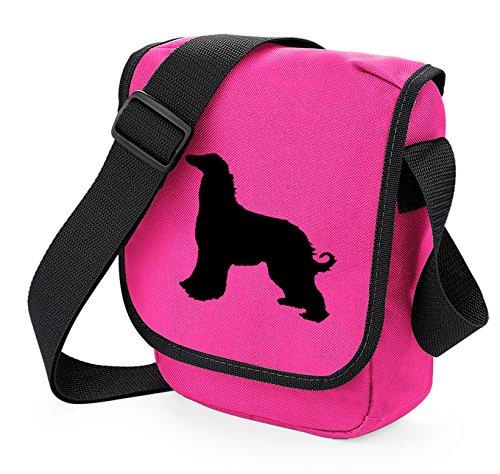 Bag Pixie - Borsa a tracolla unisex adulti Black Dog Pink Bag