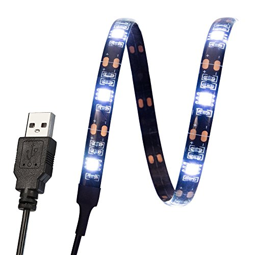 Kohree LED Streifen Lichtleiste Strip ca 90cm / TV Hintergrundbeleuchtung Beleuchtung Fernsehen USB-Anschluss Weiß