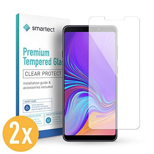 smartect Panzerglas für Samsung Galaxy A9 2018 [2 Stück] - Bildschirmschutz mit 9H Härte - Blasenfreie Schutzfolie - Anti Fingerprint Panzerglasfolie
