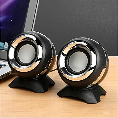 Wbmmctt Audio Q8 Computer Lautsprecher Notebook Handy USB Desktop Multimedia Subwoofer Mini Lautsprecher (Desktop-subwoofer)
