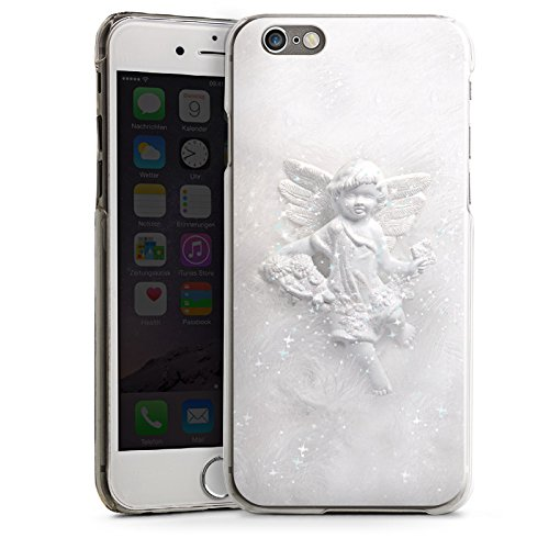 Apple iPhone 5s Housse Étui Protection Coque Ange gardien Canne Ange CasDur transparent