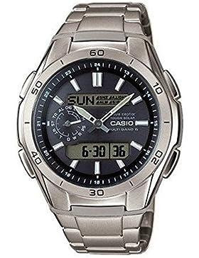 Casio Wave Ceptor – Herren-Armbanduhr mit Analog/Digital-Display und Massives Titanarmband – WVA-M650TD-1AER