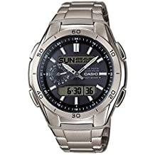 Casio WVA-M650TD-1AER – Reloj Hombre Analógico/Digital con Correa de Titanio