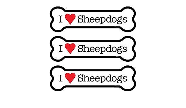INC SJT25479 Sheepdogs 3-Pack of 2 x 7 Bone Shaped Car Magnets SJT ENTERPRISES