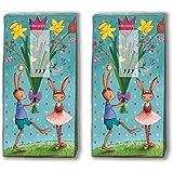 Mouchoirs 20 (2 x 10) easter fêtes de pâques/pâques/lapin de pâques/motivtaschentücher