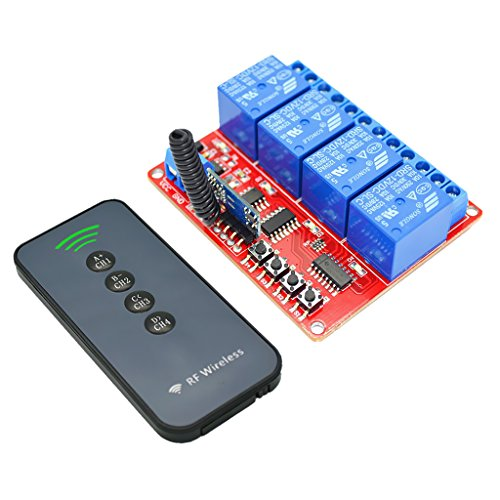 FLAMEER 433 Mhz 12V 4CH RF 30m Interruptor De Control Remoto Inalámbrico + Transceptor