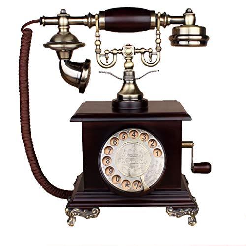 Vintage Antiken Stil Button Wählscheibe Telefon, Vintage Classic Wired Phone Repariert Haus Und Büro Dekoration, Eine Vielzahl Von Stilen Zur Auswahl (Stil : Single Bracket-AA)