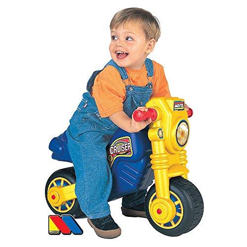 Rutsch Motorrad mit breiten Reifen, dient als Lauflernhilfe für die Kleinen, 63 cm, geeignet für Innen und Außen, Robust, Lauflernrad fürs Gleichgewicht, Kinder Bike, Laufrad Roller ab 18 Monaten - 2