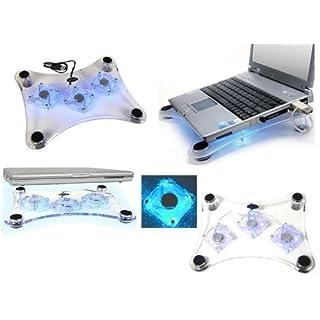 USB 3 Laptop Notebook Unterlage mit Kühlerlüfter, LED Leuchten, Blaues Licht