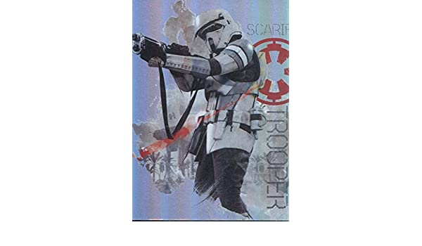 Star Wars Rogue One Mission Briefing Character Foil Chase Card #7 Scarif Trooper