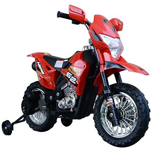 HOMCOM Moto Eléctrica Correpasillos Infantil Coche Triciclo sin Pedales para Niños 3+ Años Juguete Andador con Luces y Música Ruedas de Apoyo 107x53x70cm