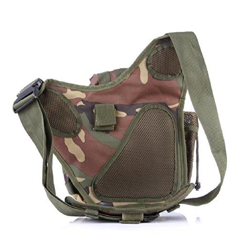 Z&N Backpack Mehrzweck- Militär-Fans taktische Satteltaschen Taschen Outdoor-Freizeit Schulter Messenger Rucksack Wanderrucksack A