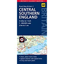 Road Map Britain 02 Central Southern England 1 : 200 000 (Aa Road Map Britain)