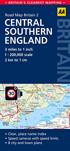 Central Southern England (AA Road Map Britain) por AA Publishing