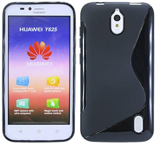 S-Line TPU SchutzHülle für Huawei Ascend Y625 Silikon Hülle in Schwarz @ Energmix