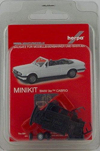 Herpa 012225-005 BMW 3 Convertible - Mini Kit, Color Rojo