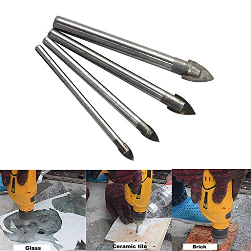 hahashop2 Haus und Garten -> Küche,Dining & Bar,Set Glas Marmor Porzellan Speer Kopf Keramik Fliesen Bohrer 4/6/8 / 10mm Werkzeug ()