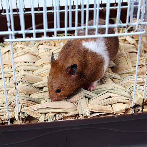 Inicio Estera de Nido de hámster Que Teje Hierba para Mascotas pequeñas Ardilla Conejillo de Indias Hurón Conejo Molar Comestible Heno Hecho a Mano Mascotas Jaula Accesorio