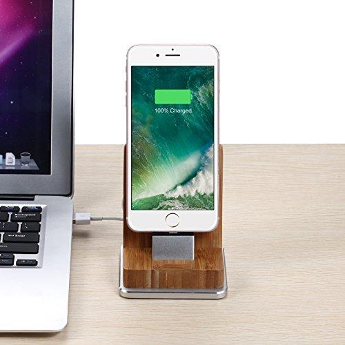 Komost Bambus iPhone Dockingstation, Ladestation stehen mit ...