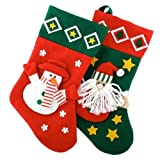 Novelty Christmas / Xmas 3D Felt Santa & Snowman Stocking 40cm x 25cm Best Review Guide