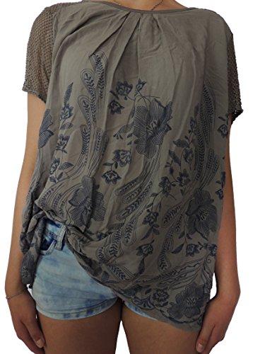 Viele verschiedene Farben Damen Blusen Shirts Größe 40 42 44 46 Braunton