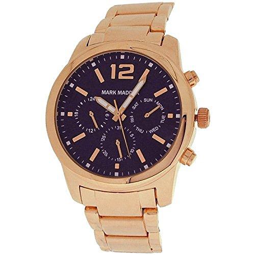 Mark Maddox Gents Multifunction Black Dial & Bracelet Strap Watch HM6003-55