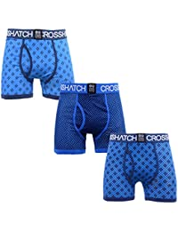 Crosshatch Homme 'Grillis' Pack de 3 Boxer à carreaux