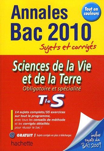 Sciences de la vie et de la terre Tle S by Sophie Lebrun (2009-09-02)