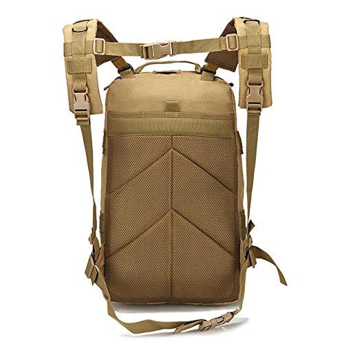 Z&N Ventilatori militari borse per camouflage borsa per alpinismo sportivo all'aperto zaino da viaggio sacco da campeggio zaino tattico zaino militare grande capacità 40LC40L A