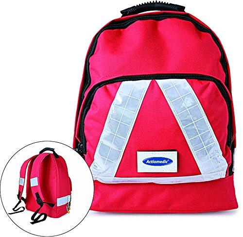 Notfallrucksack SMALL Rot Nylon 300 x 200 x 180 mm mit Inhalt DIN 13 157