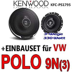 VW Polo 9N 9N3 - Kenwood KFC-PS1795 - 16cm 3-Wege Lautsprecher Koaxialsystem - Einbauset