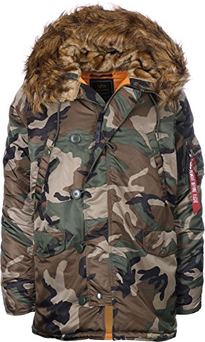 Alpha Industries Herren Jacke Camouflage