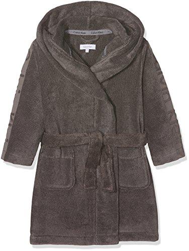 Preisvergleich Produktbild Calvin Klein Jungen Bademantel Robe, Grau (Steel Grey 004), 116 (Herstellergröße: S)