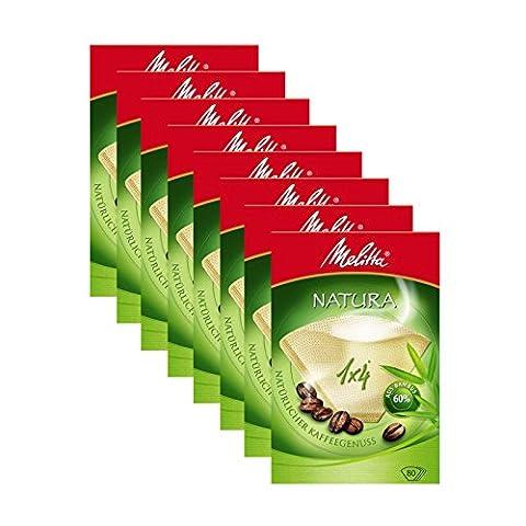 8boîtes de Melitta Taille 1x 4Natura filterbags, Lot de 80