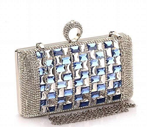 HSDDA Abendtasche Kreative Mode Mode Mehrzweck Diamant Abend Bankett Kleid Kleid Tasche Weibliche Handtasche Kleine Handtasche für Frauen Party-Handtasche (Farbe : As Shown)