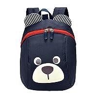 Juleya Toddler 3D Dog Backpack Baby Kids Backpack with Reins Walkers Mini Bag Navy