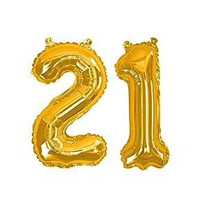 Neviti 774175 - Globos de lámina número 18, color dorado