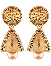 I Jewels High Gold Plated Jhumki/Jhumkas Earrings For Women (E2439FL)