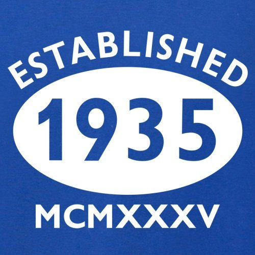 Gegründet 1935 Römische Ziffern - 82 Geburtstag - Herren T-Shirt - 13 Farben Royalblau