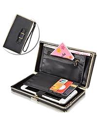 Phone Clutch Purse for Women, Vandot [Bow Knot] Large Capacity Cell Phone Cover Hand Wrist Mobile Phone Bag Wallet with Wristlet,Credit Card Slots,Passport/Driving License Holder, Elegant Practical Multi-Functional Wallet Pouch Phone Case for iPhone X/8/8 Plus/7/7 Plus/6/6s/6 Plus/5/5s/SE, Samsung Galaxy S8 Plus/S8/S7 Edge/A5/A7/J5/J7 Pro, Huawei Mate 9/P10/P9/P8 Lite, Sony Xperia XZ/XA, LG K10/K8 2017, BQ Aquaris U Plus / U Lite / X Pro / X5 Plus, Xiaomi HTC Nokia Motorala ZTE etc, Black
