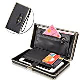 Electronics & Photo : [Universal & Large Capacity] Ladies Wallet Purse,Vandot Multi-function Storage Fashional Elegant Women Pocket Cell Phone Case Cover Bag With Wrist Strap /Card Holder Slots /Passport Case /Driving license Folder Clutch Flip Protective Practical Case for iPhone X /8 /8 Plus /7 /7Plus /6S /6S Plus /6 /6Plus /SE /5S, Galaxy S8 Plus /S8/ /A3/A5/A7/J3/J5/J7 2017, Huawei Mate 9/P10/P9/P8 Lite, Sony Xperia XZ/XA, HTC 10, LG K10 /K8 2017, OnePlus 3/3T/5 etc. - Updated Version Bow Tie Knot [BLACK]