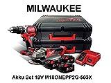 18V Akku-Set: M18ONEPD + M18CAG125X + 3x 5.0Ah