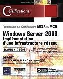Image de Windows Server 2003 - Implémentation d'une infrastructure réseau - examen 70-291
