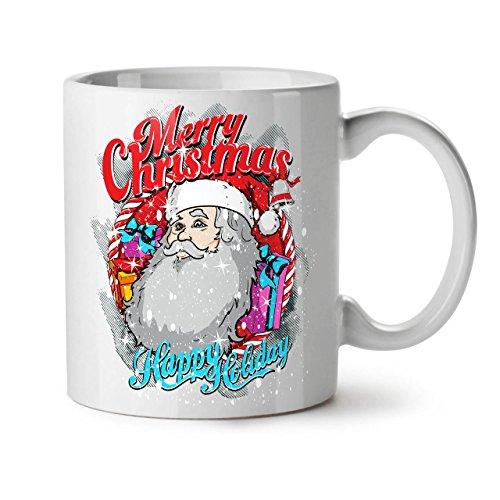 Weihnachtsmann Urlaub Weihnachten WeißTee KaffeKeramik Becher 11 | Wellcoda (Tragen Jude Halloween Kostüm)