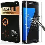 Galaxy S7 Edge Protector de Pantalla, Yica Protector de Pantalla para Galaxy S7 Edge HD Vidrio Templado Protector de Pantalla de Cristal Templado de Película Protectora para el Samsung Galaxy S7 Edge Anti-rasguños