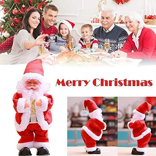 Qinmm verticale danza babbo natale, toddler kids elettrico e musica giocattoli di natale decorazione della casa, regalo ideale