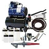 Paasche Airbrush Single Action Airbrush-Set und Kompressor mit Tank
