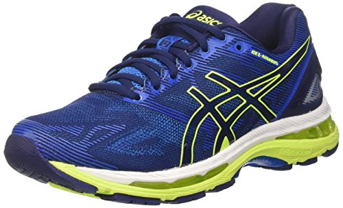 Asics Herren Gel-Nimbus 19 Laufschuhe Blau (Indigo Blue/safety Yellow/electric Blue)