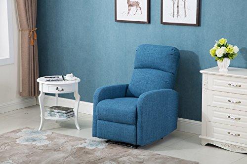 Poltrona samoa automatica tessuto blu comfort casa relax anziani