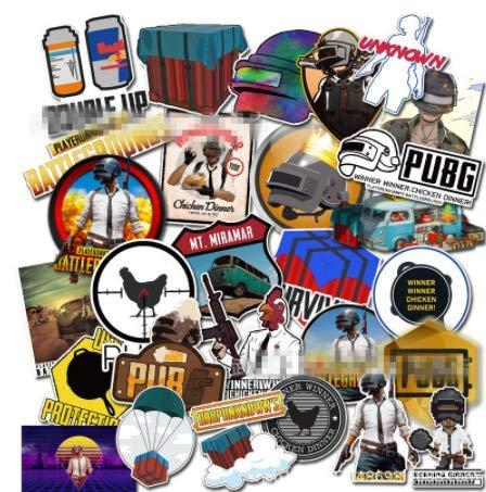 Mixed Lustige Aufkleber Für Kinder Wohnkultur Wasserdicht Laptop Aufkleber Pubg Spiel Poster Gewinner Gewinner Huhn Abendessen Sticker29Pcs (Folie Abendessen)